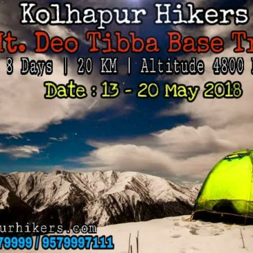 Kolhapur Hikers Mt.Deo Tibba Base Trek 13-20 May 2018